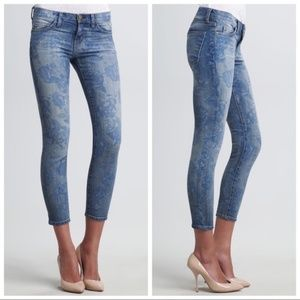 Current/Elliot blue rose stiletto skinny jeans 28